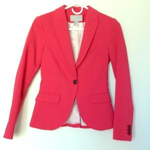 H&M pink suit jacket